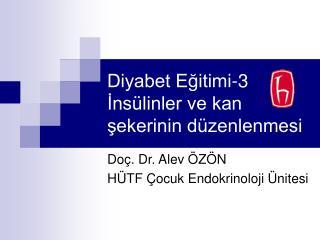Diyabet Egitimi-3 Ins linler ve kan sekerinin d zenlenmesi