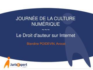 JOURNÉE DE LA CULTURE NUMÉRIQUE ~~~ Le Droit d'auteur sur Internet