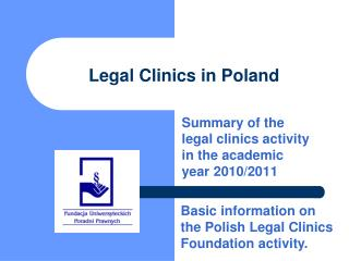 Legal Clinics in Poland