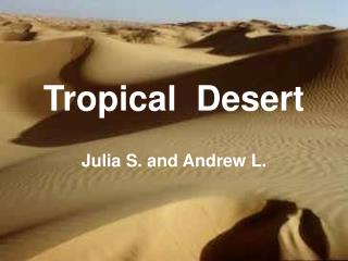 Tropical  Desert