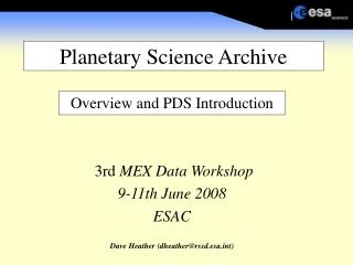 Planetary Science Archive