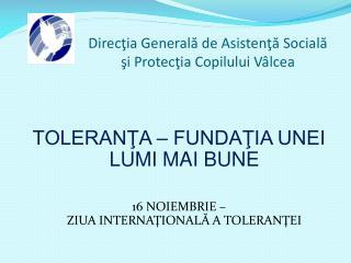 Direcţia Generală de Asistenţă Socială şi Protecţia Copilului Vâlcea