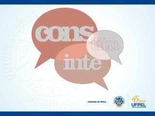 29/07/2013 Proposta de Constituinte é apresentada ao Consun