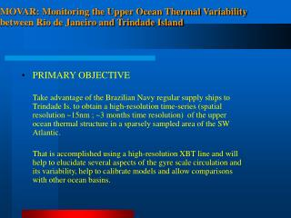 MOVAR: Monitoring the Upper Ocean Thermal Variability between Rio de Janeiro and Trindade Island