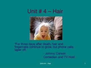 Unit # 4 � Hair