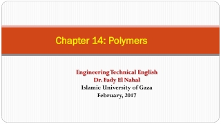 An Introduction to Polymers