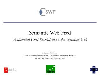 Semantic Web Fred Automated Goal Resolution on the Semantic Web