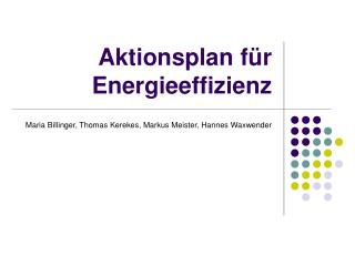 Aktionsplan f r Energieeffizienz