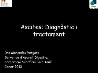 Ascites: Diagnòstic i tractament