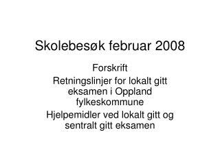 Skolebesøk februar 2008
