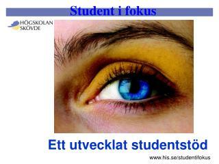 Ett utvecklat studentst�d