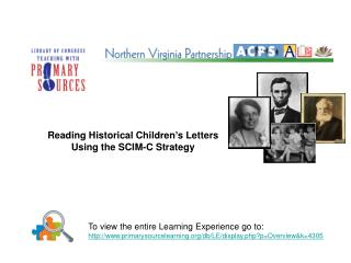 Reading Historical Children's Letters Using the SCIM-C Strategy