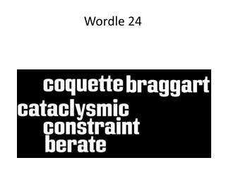 Wordle 24