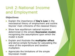 The Keynesian Model  Part I