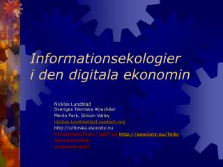 Informationsekologier  i den digitala ekonomin