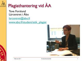 Plagiathantering vid ÅA
