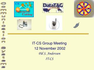 IT-CS Group Meeting  12 November 2002 Pål S. Anderssen IT-CS