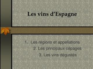 Les vins d�Espagne