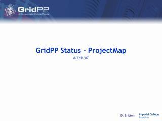 GridPP Status - ProjectMap