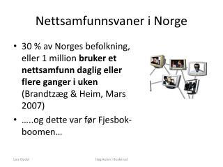 Nettsamfunnsvaner i Norge