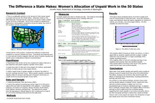 The Difference a State Makes: Women's Allocation of Unpaid Work in the 50 States