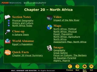 Chapter 20 � North Africa