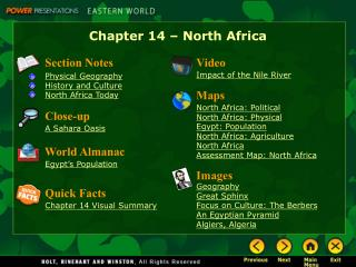 Chapter 14 � North Africa