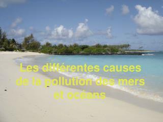 Les différentes causes  de la pollution des mers  et océans .