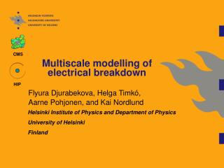 Multiscale modelling of  electrical breakdown
