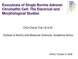 Exocytosis of Single Bovine Adrenal Chromaffin Cell: The Electrical and Morphological Studies