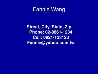 Fannie Wang