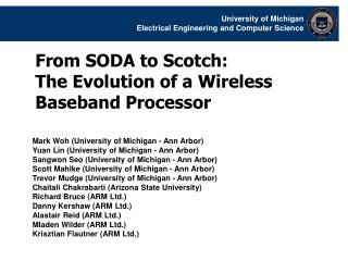 From SODA to Scotch:  The Evolution of a Wireless Baseband Processor