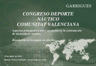 CONGRESO DEPORTE NÁUTICO  COMUNITAT VALENCIANA