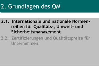 2. Grundlagen des QM
