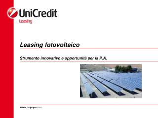 Leasing fotovoltaico