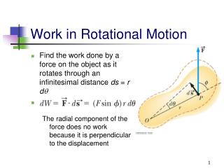 Work in Rotational Motion