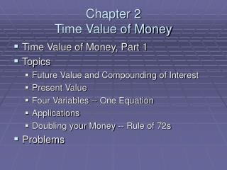 Chapter 2  Time Value of Money