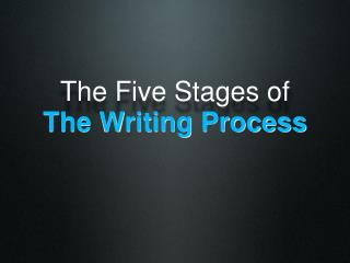 The Five Stages of