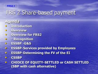 FRS 2 Share-based payment