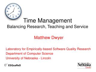 Time Management Balancing Research, Teaching and Service