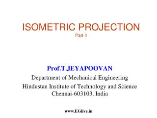 ISOMETRIC PROJECTION  Part II