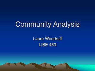 Community Analysis