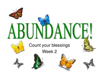 Count your blessings Week 2
