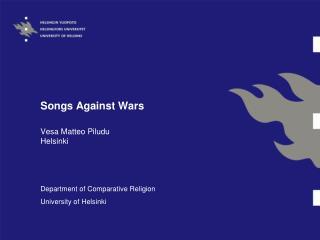 Songs Against Wars