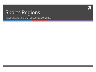 Sports Regions