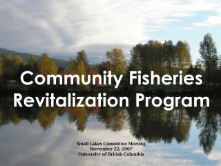 Community Fisheries Revitalization Program