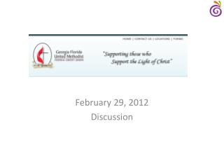 February 29, 2012 Discussion