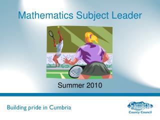 Mathematics Subject Leader