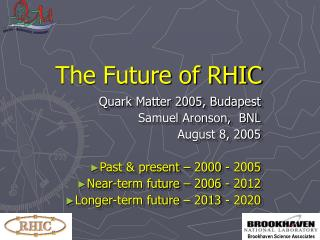The Future of RHIC