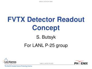 FVTX Detector Readout Concept